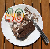Birthday cake residue Stock Image