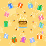 Birthday cake seamless pattern Royalty Free Stock Photography