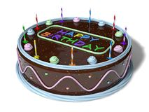 Birthday cake. side view. Stock Photography