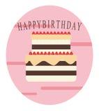 Birthday cake. A simple design of birthday cake vector illustration