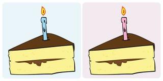 Birthday cake slice. Royalty Free Stock Photos