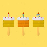 Birthday Cake. On a stick. vector format Stock Image