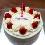 Birthday cake. Strawberry shortcake birthday cake stock photography