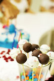 Birthday cake and sweets Royalty Free Stock Photo
