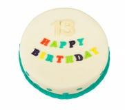 Birthday cake with text happy birthday Stock Image