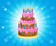 Birthday cake theme image 3 Stock Image