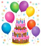 Birthday cake theme image 4 Royalty Free Stock Images