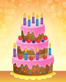 Birthday cake theme image 5 Royalty Free Stock Images