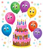 Birthday cake theme image 7 Royalty Free Stock Photography