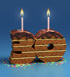 Birthday cake thirtieth birthday or anniversary Royalty Free Stock Photos