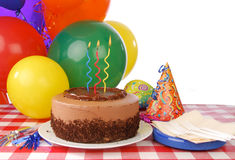 Birthday cake with three candles royalty free stock images