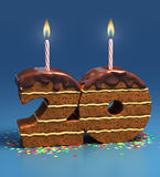 Birthday cake for a twenti birthday or anniversary Stock Photography