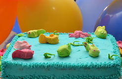 Birthday Cake. Undersea themed birthday cake for a small boy Royalty Free Stock Photography