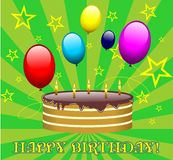 Birthday cake vector Royalty Free Stock Photography