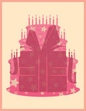 Birthday cake vector illustration Stock Photo