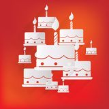 Birthday cake web icon Royalty Free Stock Photography