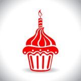 Birthday cake web icon vector Stock Images