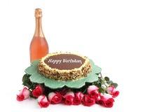 Birthday cake on white background Stock Images