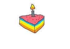 Birthday cake. On white background Stock Photo