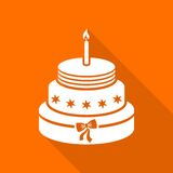 Birthday cake royalty free illustration
