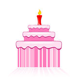 Birthday Cake With Barcode Stock Image