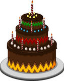 Birthday cake for you design Royalty Free Stock Images