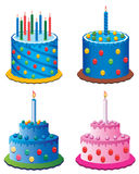 Birthday cakes Stock Image