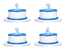 Birthday cakes Stock Photography