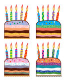 Birthday cakes Royalty Free Stock Photos