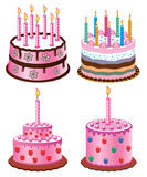 Birthday cakes Royalty Free Stock Image