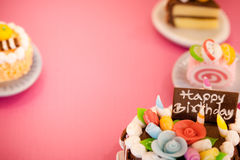 Birthday cakes background Royalty Free Stock Image