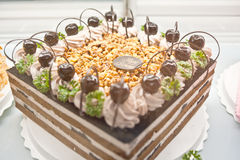 Birthday cakes, pastries design Royalty Free Stock Photos