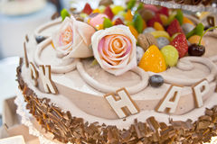 Birthday cakes, pastries design Stock Photography