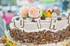 Birthday cakes, pastries design Royalty Free Stock Photography