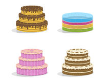 Birthday cakes. Vector illustration Stock Image