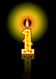 Birthday Candle 1 - black Royalty Free Stock Photography