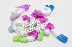 The birthday candle Royalty Free Stock Images