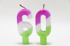 The birthday candle Stock Images