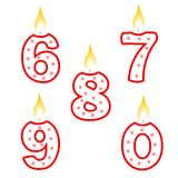 Birthday candle Royalty Free Stock Photos