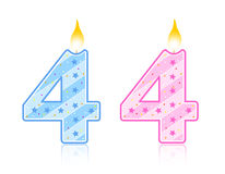 Birthday candle - 4 vector illustration