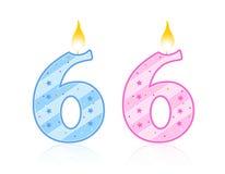 Birthday candle - 6 Stock Image