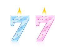 Birthday candle - 7 Royalty Free Stock Photos
