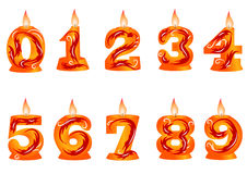 Birthday candle as numbers Royalty Free Stock Photography