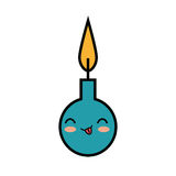 Birthday candle character funny. Illustration design royalty free illustration