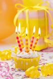 Birthday candle Stock Photos