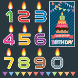 Birthday candle design Royalty Free Stock Photography