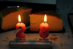 Birthday candle Stock Image
