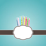 Birthday Candle Label Frame Stock Image