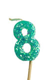 Birthday candle number 8 Royalty Free Stock Photos