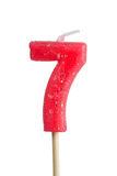 Birthday candle number 7 Stock Image